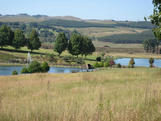 Midlands Saddle & Trout Resort: View over dams from unit