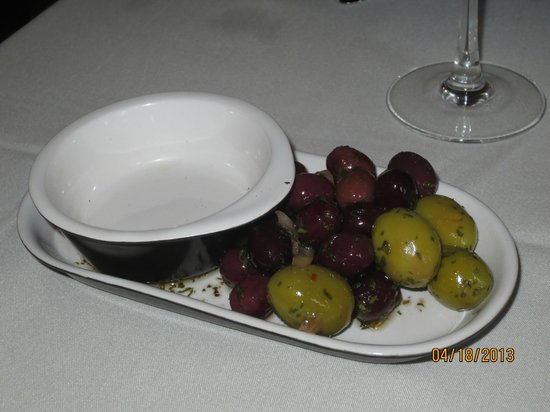 Bistro Mediterranean & Tapas Bar: complimentary olives