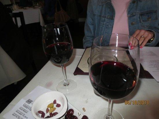 Bistro Mediterranean & Tapas Bar: house wine