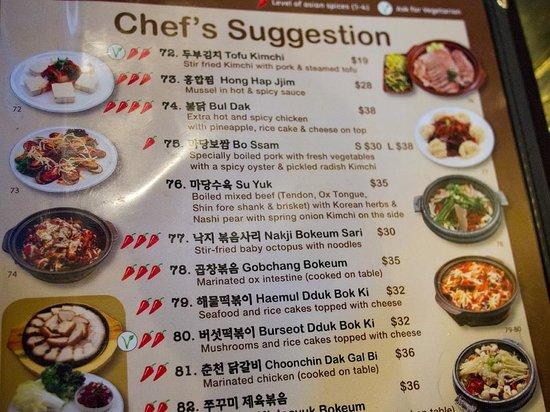 Madang Korean Restaurant Sydney Menu
