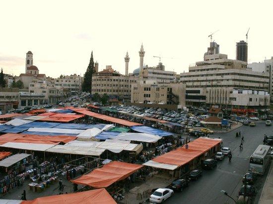 Toledo Amman Hotel View From Room Of Abdali Market