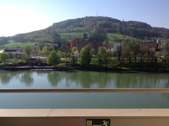 Hotel Rebstock Laufenburg: Balkonblick