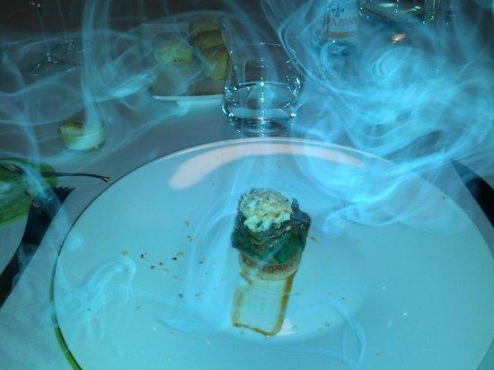 officina cucina carciofo con fumo