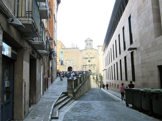 Ayuntamiento: The bulls are let out of a corral at the bottom of this street