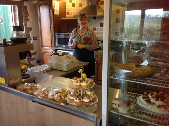 Red Castle Tea Room: Our homely kitchen and cake counter