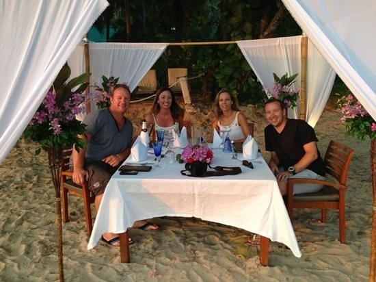 Centara Grand Beach Resort & Villas Krabi: private beach dinner on the beach at The Centara Grand.