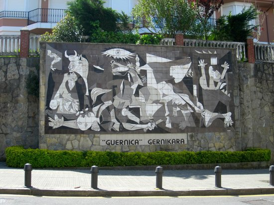 "Gernika Peace Museum Foundation : Ceramic rendition of Pablo Picasso's ""Gernika"" in Guernika"