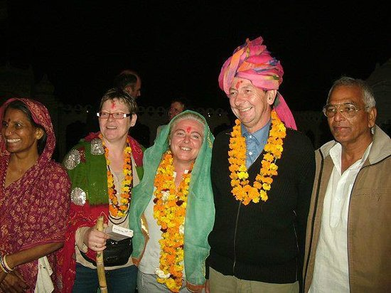 Rohtak, Indien: Delegates of French farmer association