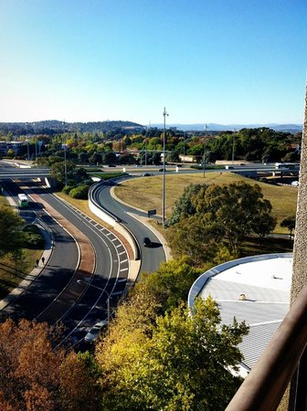 QT Canberra: The view from the balcony