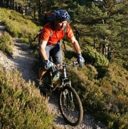 Kincraig, UK: Biking with TREKnTRAIL - we do hillwalking too!