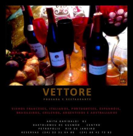 Pousada e Restaurante Vettore: vinhos que aquecem o corpo e a alma