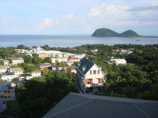 The Champs, Hotel, Restaurant & Bar: Uitzicht op de heerlijke caraibische zee