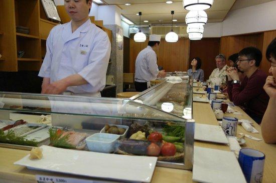 Tsukiji Sushisay Honten: Ground floor sushi bar