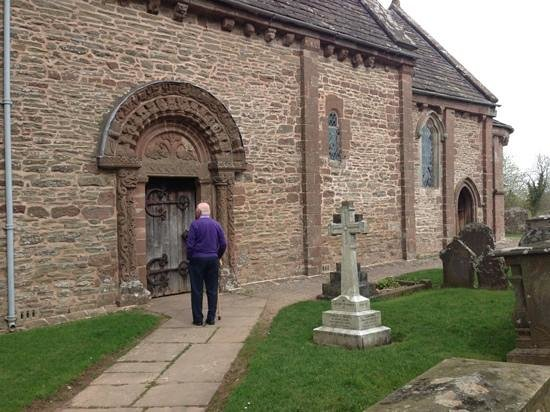 Kilpeck Church and its famous Norman door!