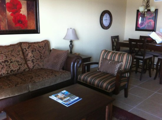 Phoenix Condominiums: Our room was beautiful!  My son slept on that couch!