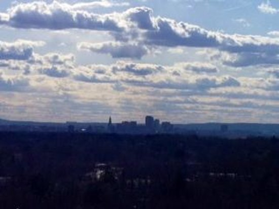 Manchester, CT : Wickham Park view from hill