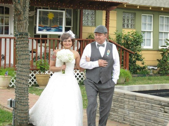 Clipper House Inn: dad walking me down the isle to Rose of my Heart by Johnny Cash