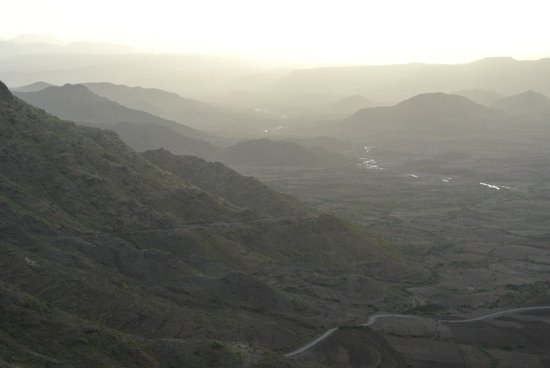Cliff Edge Hotel - Lalibela: The view from my room at sunset