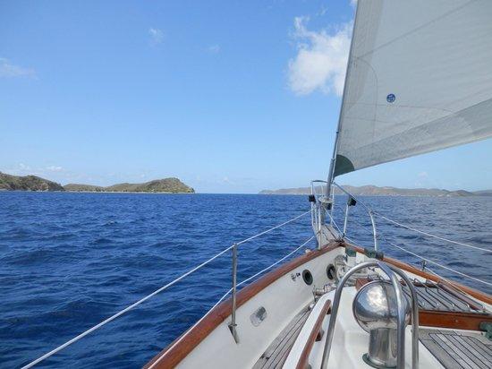 Sail Bravura: Headed to Cooper Island