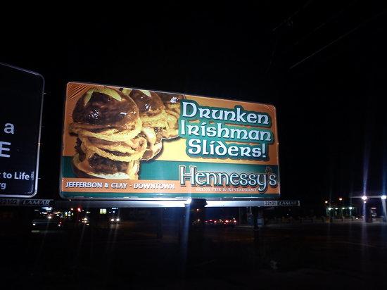 Hennessy's Pub: Sliders billboard