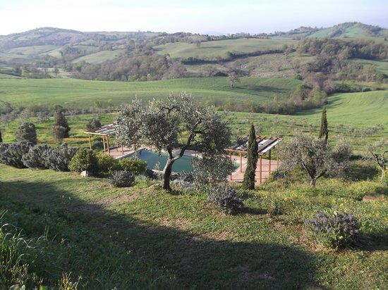 Quercia Rossa Farmhouse: View from seating area