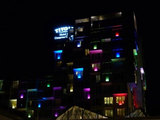 Tivoli Hotel at night