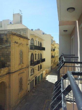 Calypso Hotel: Side strret view