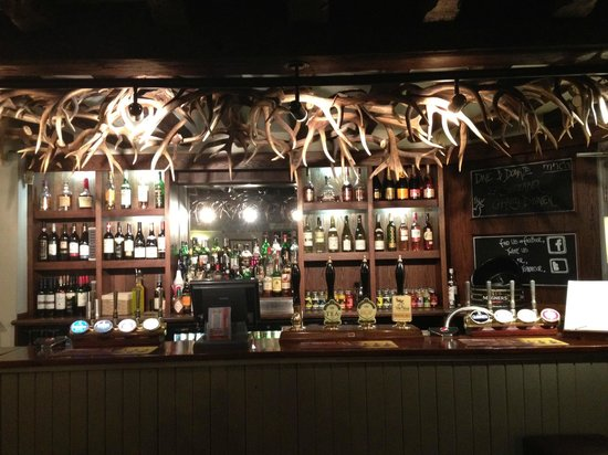 The Stag on the river: The bar