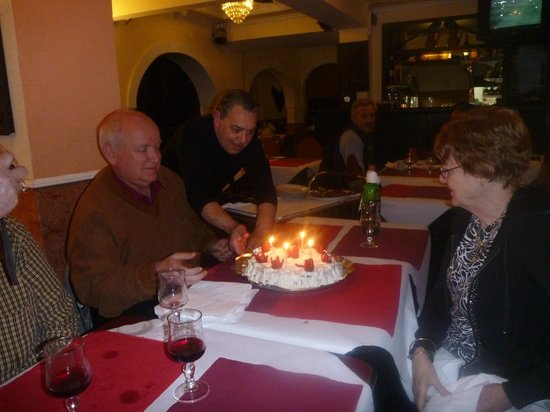 Restaurante Churrascaria Damas: Birthday cake provided by Damas