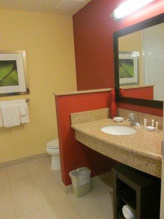 Courtyard Miami Homestead: spacious/clean bathroom -no tub-