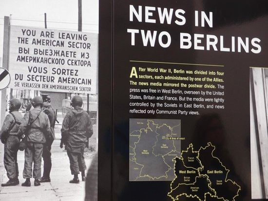 From the Berlin Wall room at the Newseum