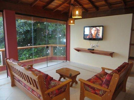 Pousada Casa na Praia: Sala de TV Sky