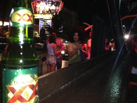 Conga line at Congo bar