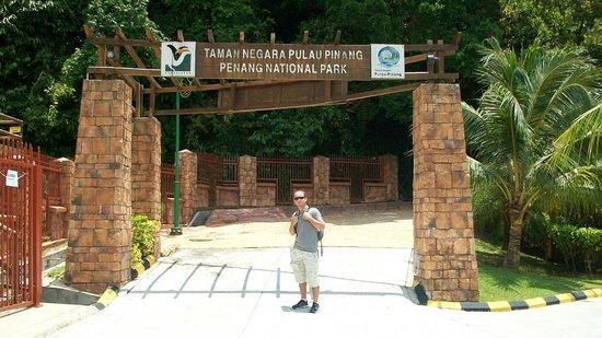 Penang National Park (Taman Negara Pulau Pinang): park entrance