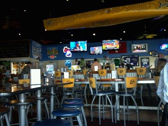 Inside the Rock Bar and Grill