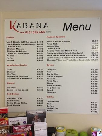 Kabana : menu