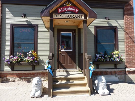 Marydale's Family Restaurant: Barb likes to decorate for the season.  Welcome Spring!