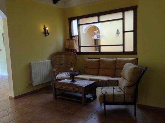 Hotel Rural Llano Pina: Il disimpegno al piano superiore..