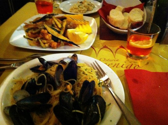 Osteria Mocenigo da Guido e Luca : our dinner...yum!