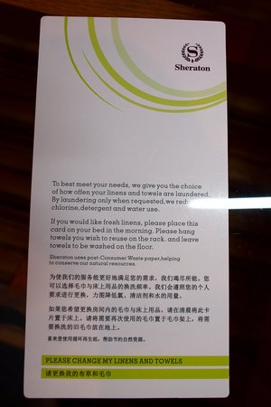 Sheraton Shunde Hotel: Housekeeping Can't Understand This Card