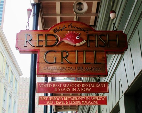 Just off canal st on bourbon picture of red fish grill for Bourbon street fish