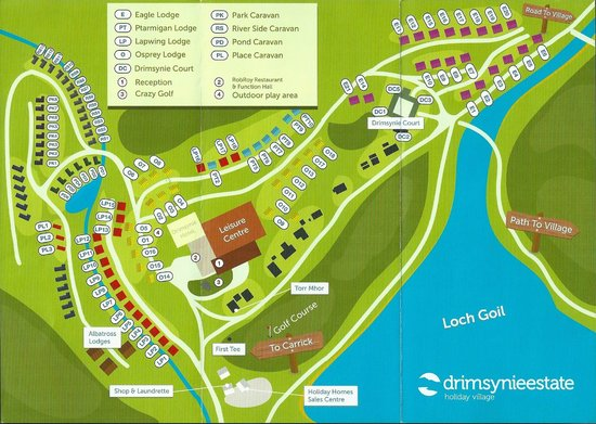 Drimsynie Estate Holiday Village: Site Map Sample