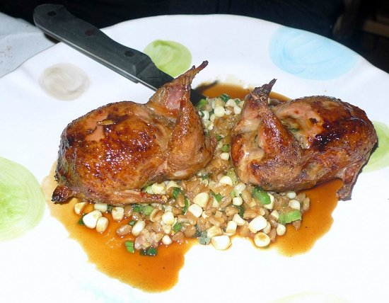 Orso : Quail with roasted corn is a must have!