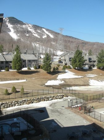 Jay Peak Resort: View from balcony of room 552 in Hotel Jay