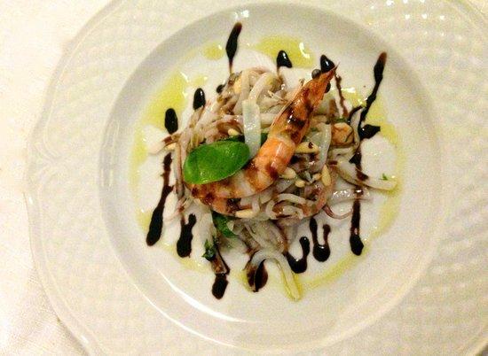 Il Lupercale : insalata di calamari e gamberi