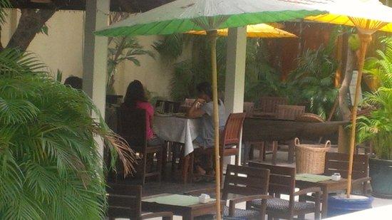 The Pavilion: Open air restaurant