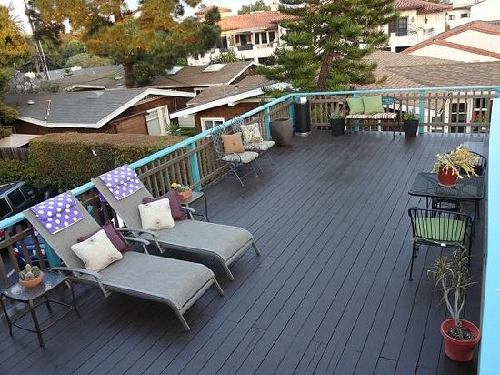 Presidio Motel: Sundeck overview