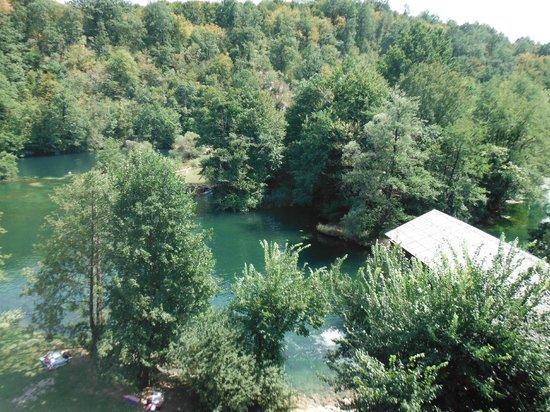 View of  River Mrežnica from Zeleni Kut hotel room balcony