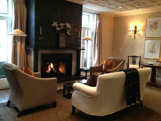 Eichardt's Private Hotel: Fire place in the room