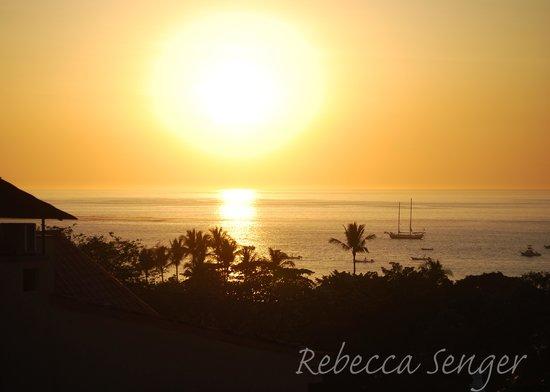 La Colina: sunset views from the balcony
